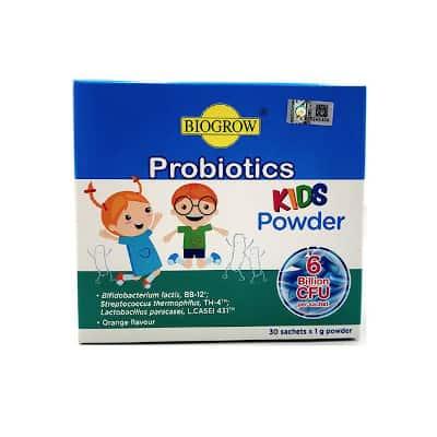biogrow probiotics kids powder