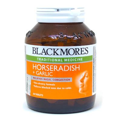 blackmores horseradish and garlic supplement